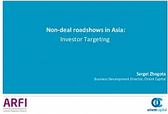 Non-deal roadshows in Asia: Investor Targeting (#04)