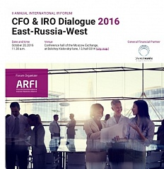 CFO & IRO Dialogue (Oct 20, 2016). Forum program