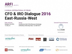 CFO & IRO Dialogue (Oct 20, 2016). Forum cover page