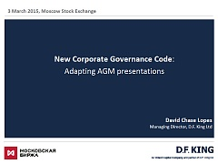 New Corporate Governance Code: Adapting AGM presentations
