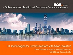 Online Investor Relations & Corporate Communications (#08)