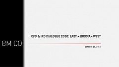 CFO & IRO Dialogue (Oct 20, 2016). Presentation 05 - EM CO